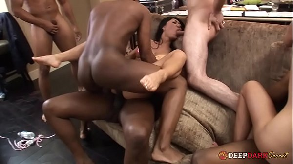 MDDS Becky Squirts, Kitty and Tia Ling Hardcore Interracial Orgy Party