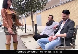 LAS FOLLADORAS – Sexy Spanish MILF Suhaila Hard rides amateur cock in steamy pickup and fuck