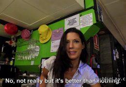 Spanish amateur bangs pov in public bar